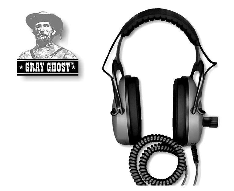 GRAY GHOST UNDERWATER HEADPHONES FOR MINELAB CTX 3030
